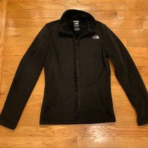 The North Face black fleece full zip jacket - XS